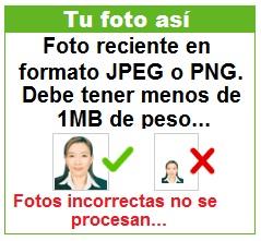 Foto correcta para visa electrónica camboyana