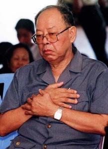 Ieng Sary, ministro de asuntos exteriores de Kampuchea Democrática. Foto cybercambodia.com