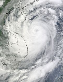 A satelite picture of Ketsana over the Southeast of Asia. Photo Nasa.