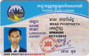 tourist guide license of Piseth