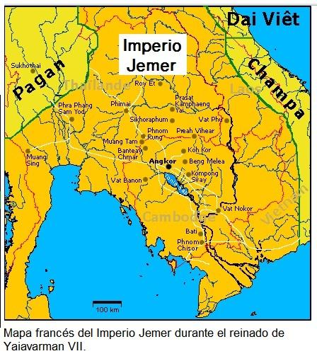 Imperio Jemer (mapa)