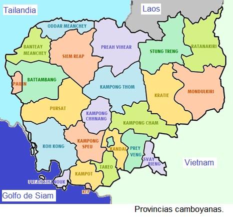 Mapas Camboya En Espanol