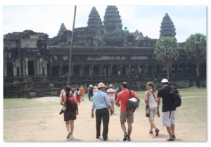 Argentinos en Angkor Wat