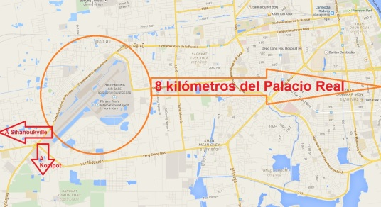 Mapa Aeropuerto de Nom Pen