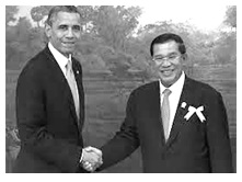 Hun Sen and Obama