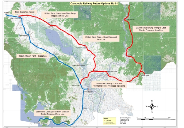 Cambodia rail lines future perspectives