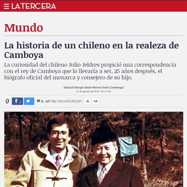 La historia de un chileno en la realeza de Camboya